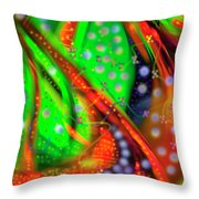 Oceanic Abstract Painting Throw Pillow
