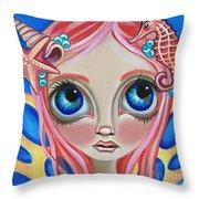 Oceanic Fairy Throw Pillow