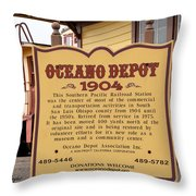 Oceano Depot 1904 Throw Pillow