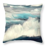 Oceans Blue Throw Pillow by Mark Taylor