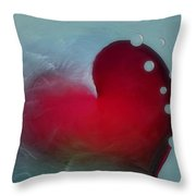 Oceans Heart Throw Pillow