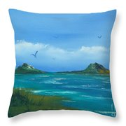 Oceans Islands Throw Pillow