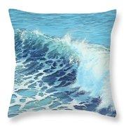 Ocean's Might Throw Pillow