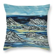 Oceans Of Worlds Throw Pillow