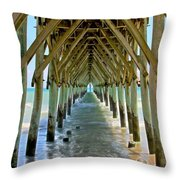 Oceanside Cathedral Throw Pillow