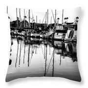 Oceanside Harbor Throw Pillow