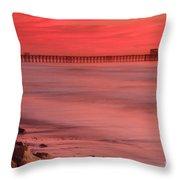 Oceanside Pier Sunset 4 Throw Pillow