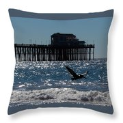 Oceanside Resident Photograph Throw Pillow