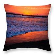 Oceanside Sunset Throw Pillow