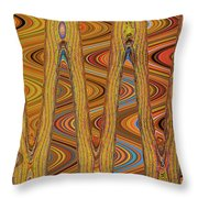 Oceanside Surfer Abstract. Throw Pillow