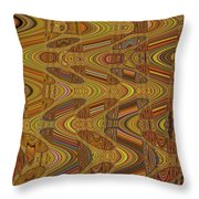 Oceanside Surfer Abstract.#2 Throw Pillow