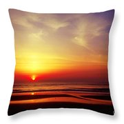 Ocen Sunrise. Throw Pillow