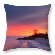 Ochlockonee Bay Sunrise Throw Pillow