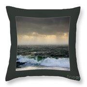 Ochre Sky's And Angry Seas 2 Throw Pillow