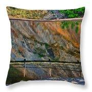 Ocoee Dam Reflection Throw Pillow
