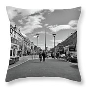 O'connell Street In Dublin Throw Pillow