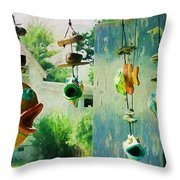 Ocracoke Fish Throw Pillow