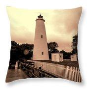 Ocracoke Island Lighthouse Sepia Photograph By Phyllis