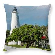 Ocracoke Island Lighthouse  Throw Pillow