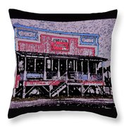 Ocracoke Island Shop Throw Pillow