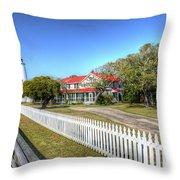 Ocracoke Lighthouse, Ocracoke Island, Nc Throw Pillow