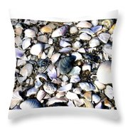 Ocracoke Shells Throw Pillow
