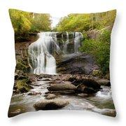 October At Bald River Falls Throw Pillow