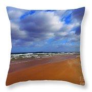 October Beach Throw Pillow