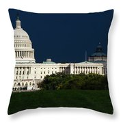 October Capitol Throw Pillow