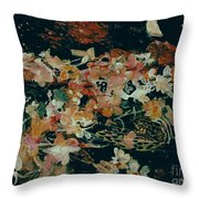 October Flowers By Night Throw Pillow