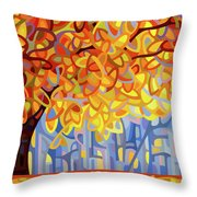 October Gold Throw Pillow