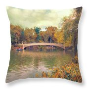 October In Central Park Throw Pillow
