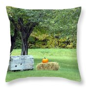 October In Maine Throw Pillow