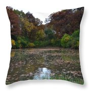October Leaves Throw Pillow