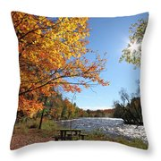 October Light Throw Pillow