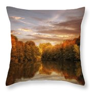 October Lights Throw Pillow