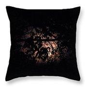 October Moon Throw Pillow