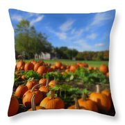October Postcard  Throw Pillow