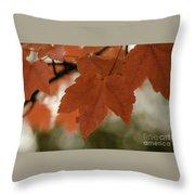 October Red Throw Pillow