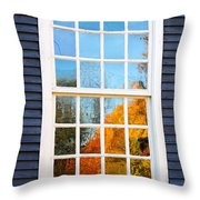 October Reflections 4 Throw Pillow