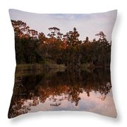 October Reflections On The River Throw Pillow