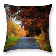 October Road Throw Pillow by Joyce Kimble Smith