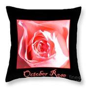 October Rose Throw Pillow