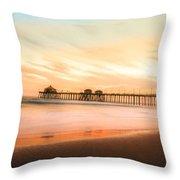 October Sunset Throw Pillow