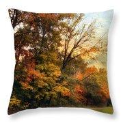 October Trail Throw Pillow