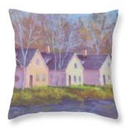 October's Light On Peanut Row Throw Pillow