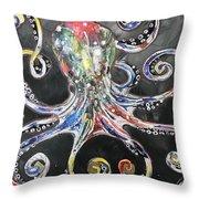 Octopus Apps Throw Pillow