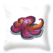 Octopus Dance Throw Pillow