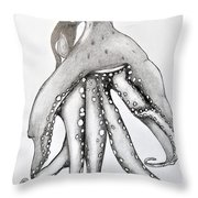 Octopus Of The Sea Throw Pillow