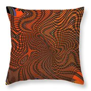Octopus Red Throw Pillow